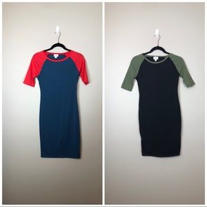 Bundle of 2 Lularoe Julia Raglan Sleeve Dresses!